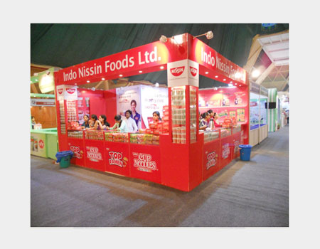 Exhibition Stall Design Service | Exhibition Booth Design & Fabrication - Blues and Purples